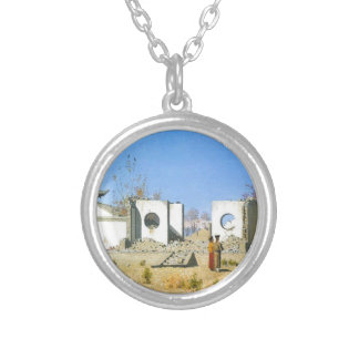 The ruins of the Chinese shrine. Ak-Kent by Vasily Silver Plated Necklace