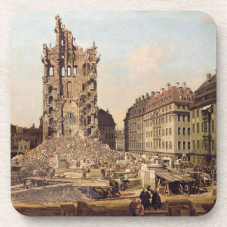 The Ruins of the old Kreuzkirche, Dresden Beverage Coasters