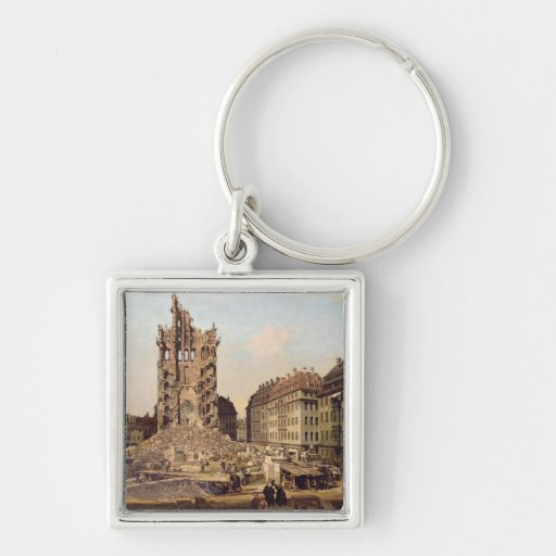 The Ruins of the old Kreuzkirche, Dresden Key Chains
