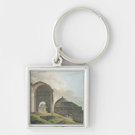 The Ruins of the Palace at Madurai, 1798 Keychain