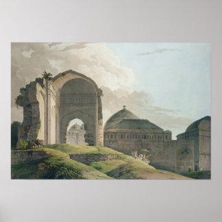 The Ruins of the Palace at Madurai, 1798 Poster