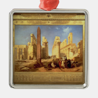 The Ruins of the Palace of Karnak at Thebes Christmas Ornament