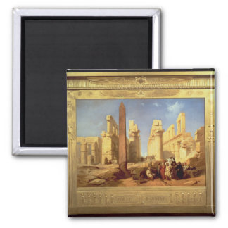 The Ruins of the Palace of Karnak at Thebes Square Magnet