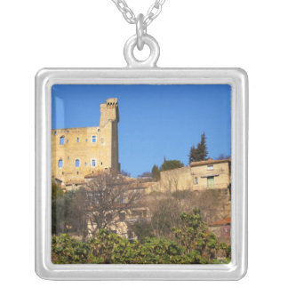 The ruins of the Pope's summer castle in Silver Plated Necklace