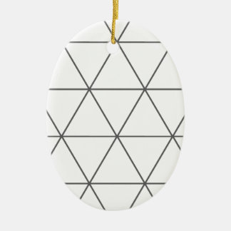 The Rule of Triangle 01 Ceramic Oval Decoration