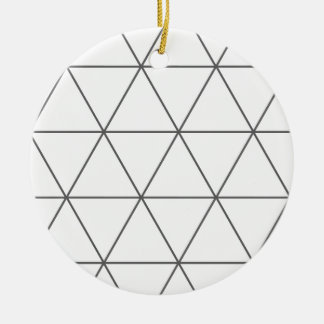 The Rule of Triangle 01 Round Ceramic Decoration