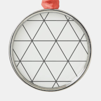 The Rule of Triangle 01 Silver-Colored Round Decoration