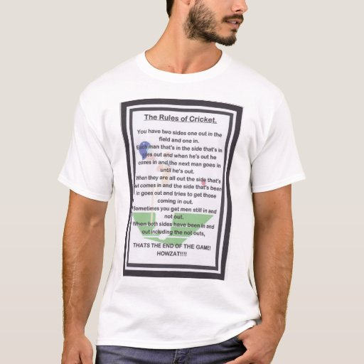 The RULES of CRICKET T-shirt