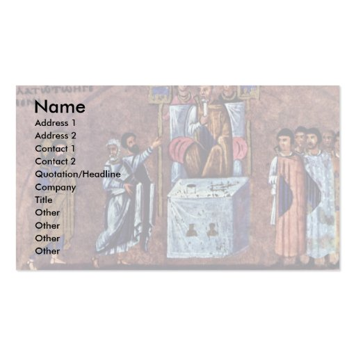 The Ruling Of The Pilatius By Meister Des Evangeli Business Card
