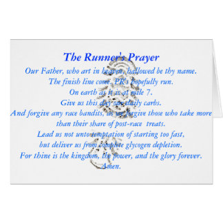 The Runner's Prayer Greeting Card