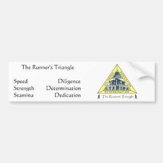 The RUNNER'S TRIANGLE Bumper Sticker