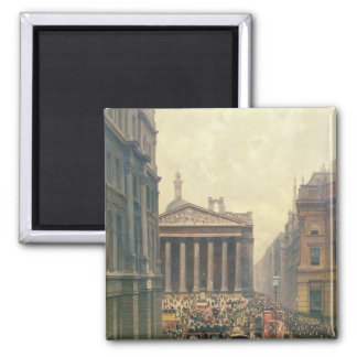 The Rush Hour by the Royal Exchange from Queen Fridge Magnet