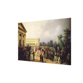 The Russian Guard in Tsarskoye Selo Canvas Print
