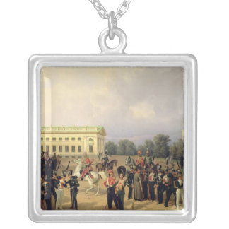 The Russian Guard in Tsarskoye Selo Silver Plated Necklace