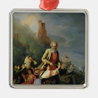 The Russians in 1812, 1855 Silver-Colored Square Decoration