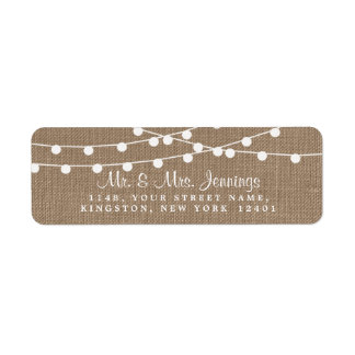 The Rustic Burlap String Lights Wedding Collection