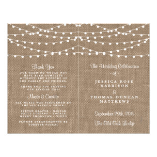 The Rustic Burlap String Lights Wedding Collection Flyer