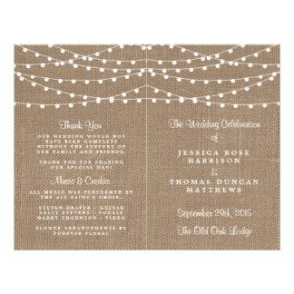 The Rustic Burlap String Lights Wedding Collection 21.5 Cm X 28 Cm Flyer