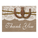 The Rustic Horseshoe Wedding Collection Postcard