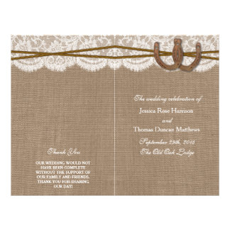The Rustic Horseshoe Wedding Collection Programs 21.5 Cm X 28 Cm Flyer