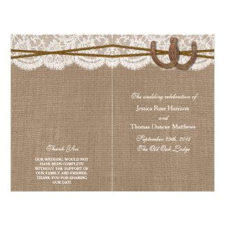 The Rustic Horseshoe Wedding Collection Programs Flyer