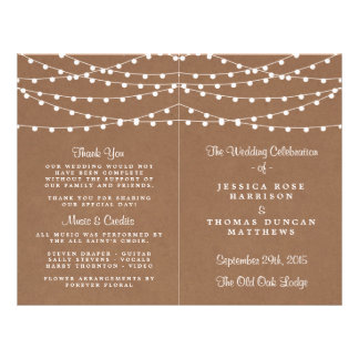 The Rustic Kraft String Lights Wedding Collection Flyer