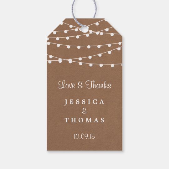 The Rustic Kraft String Lights Wedding Collection Gift