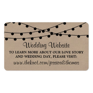 The Rustic Kraft String Lights Wedding Collection Pack Of Standard Business Cards