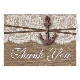 The Rustic Nautical Anchor Wedding Collection Card