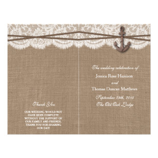 "The Rustic Nautical Anchor Wedding Collection 8.5"" X 11"" Flyer"