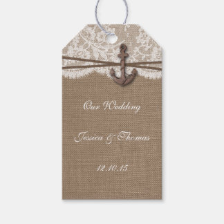 The Rustic Nautical Anchor Wedding Collection Gift Tags