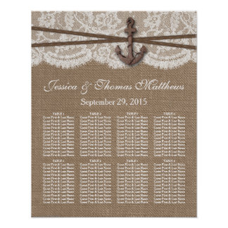 The Rustic Nautical Anchor Wedding Collection Poster