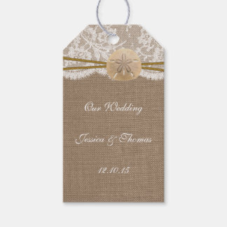 The Rustic Sand Dollar Beach Wedding Collection Gift Tags