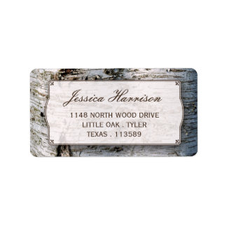 The Rustic Silver Birch Tree Wedding Collection Address Label