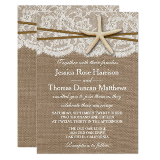 Nice The Rustic Starfish Beach Wedding Collection Card