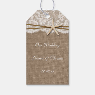The Rustic Starfish Beach Wedding Collection Gift Tags