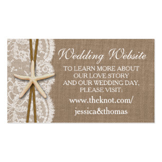 The Rustic Starfish Beach Wedding Collection Pack Of Standard Business Cards
