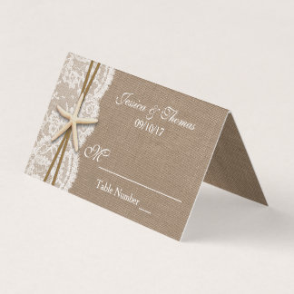 The Rustic Starfish Beach Wedding Collection Place Card
