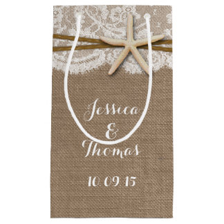 The Rustic Starfish Beach Wedding Collection Small Gift Bag