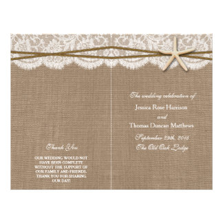 The Rustic Starfish Wedding Collection Programs 21.5 Cm X 28 Cm Flyer