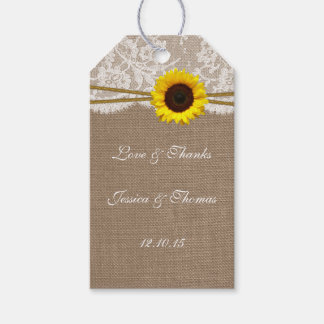 The Rustic Sunflower Collection Tags