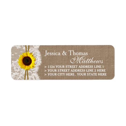 The Rustic Sunflower Wedding Collection Labels