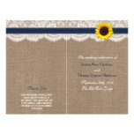 The Rustic Sunflower Wedding Collection - Navy 21.5 Cm X 28 Cm Flyer