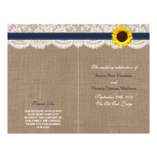 The Rustic Sunflower Wedding Collection - Navy Flyer