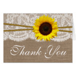 The Rustic Sunflower Wedding Collection Note Card