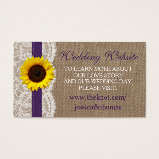 The Rustic Sunflower Wedding Collection - Purple