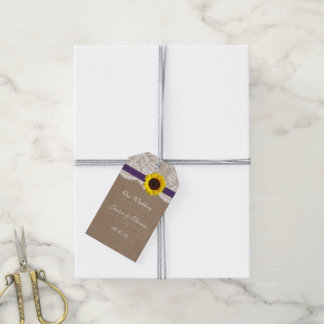 The Rustic Sunflower Wedding Collection - Purple Gift Tags