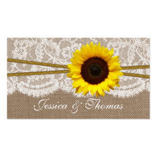The Rustic Sunflower Wedding Collection Website Pack Of Standard Business Cards