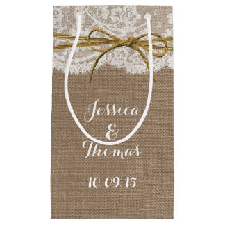 The Rustic Twine Bow Wedding Collection Gift Bags