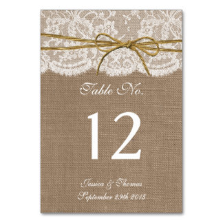 The Rustic Twine Bow Wedding Collection Table Card